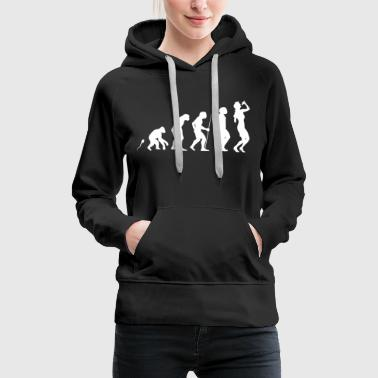 Gesang Evolution Fun Shirt - Frauen Premium Hoodie