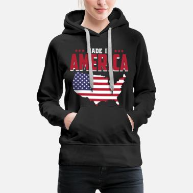 Made In Usa Made in America - Geboren in Amerika - USA Baby - Sudadera con capucha premium para mujer