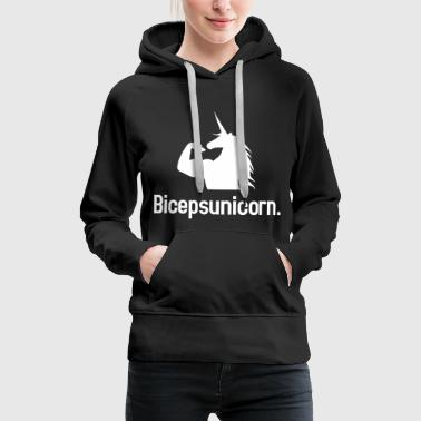 Biceps Unicorn - Premium hettegenser for kvinner