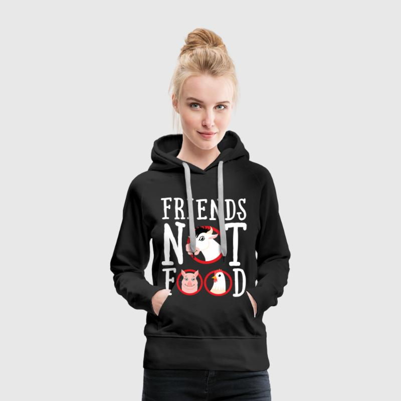 Friends Not Food | Vegan Statement - Vrouwen Premium hoodie