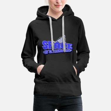 Space Spaceship galaxy stars science gift - Women's Premium Hoodie