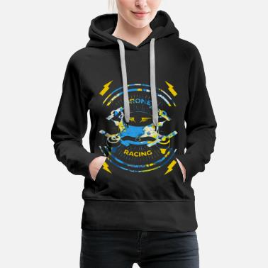 Crash Spreadshirt T-shirt | Course de drone pilote - Sweat-shirt à capuche Premium pour femmes