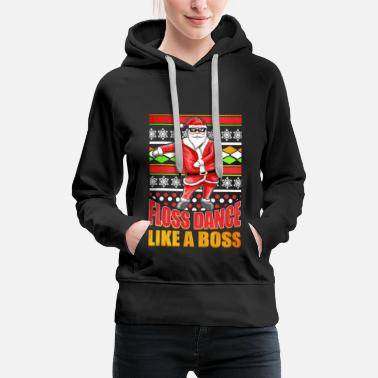Sunglasses Ugly Christmas Flossing Santa - Women's Premium Hoodie