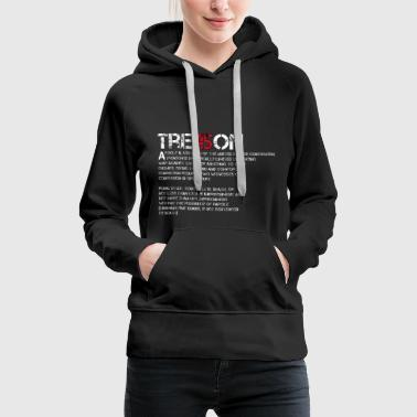Anti Trump Impeach 45 Treason - Women's Premium Hoodie