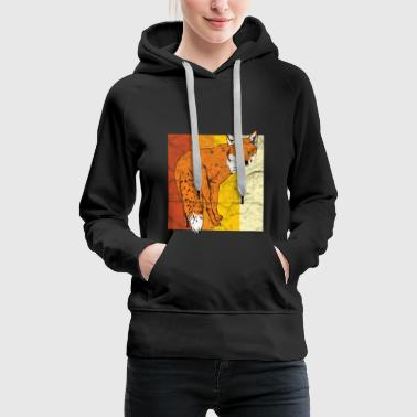 Animal print gift foxes - Women's Premium Hoodie