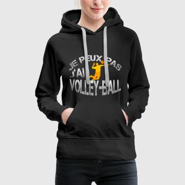 Volley-Ball - Sweat-shirt à capuche Premium pour femmes