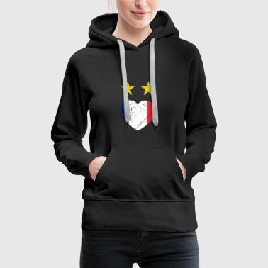 Heart France World Cup - Women's Premium Hoodie