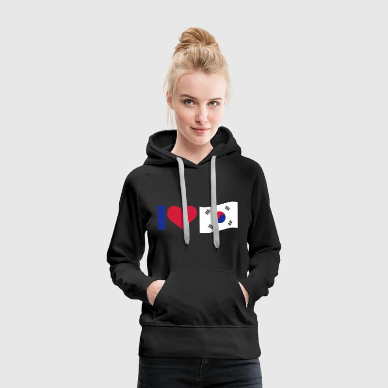 I Love South Korea, cairaart.com - Frauen Premium Hoodie