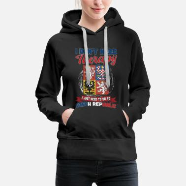 Patriotic No therapy - only the Czech Republic - Women's Premium Hoodie
