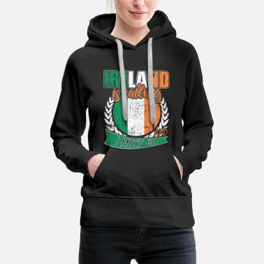 Belfast Dublin Ireland national flag - Women's Premium Hoodie