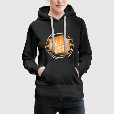 B.E.A.R. to keep kids of cheese - Football - Women's Premium Hoodie