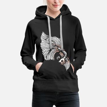 Labyrinth Betta Splendens fighting fish labyrinth fish gift - Women's Premium Hoodie