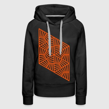 Striped triangles - Women's Premium Hoodie