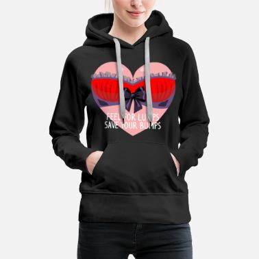 Graphic Art Funny Breast Cancer Awareness Art For Women Dark - Women's Premium Hoodie