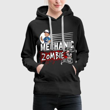 Proud Mechanic - Zombie by night - Women's Premium Hoodie