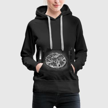 Pizza Belly Pot Belly Pregnancy Funny Fast Food - Women's Premium Hoodie
