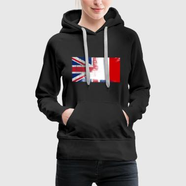 British Maltese Half Malta Half UK Flag - Women's Premium Hoodie