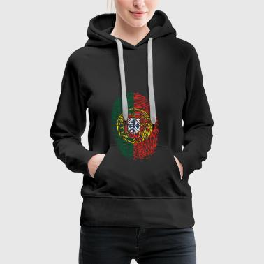 Fingerprint Fingerprint Portugal Flag Nation Gift - Women's Premium Hoodie