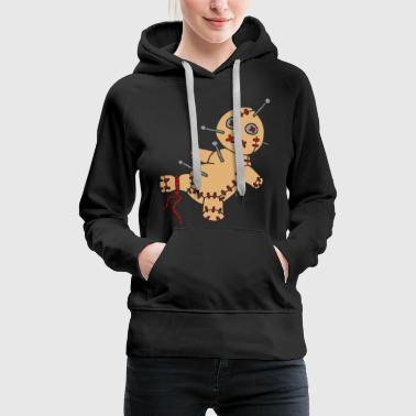 3 col - Voodoo Puppe Doll Funny Game Hawaii Tattoo Horror Psychopath - Women's Premium Hoodie