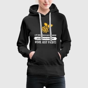When Cell Phones Were Just Fruits! - Women's Premium Hoodie