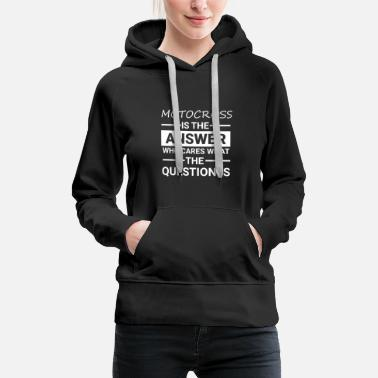 Sunday Funday Motorcross Is The Answer Shirt, Who Cares About - Women's Premium Hoodie
