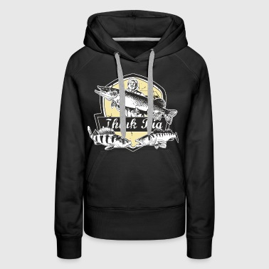 Angeln, think big!, original RAHMENLOS® Design - Frauen Premium Hoodie