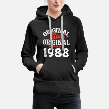 1988 Original Stays Original 1988 - Frauen Premium Hoodie