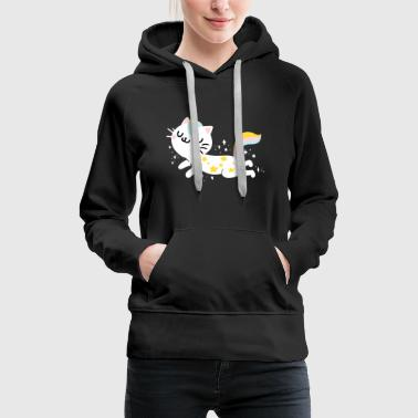 Unicorn Caticorn Magical Unicorn Cat Kitty Kitten - Vrouwen Premium hoodie