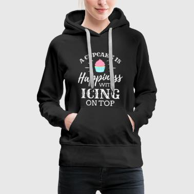 Donut A Cupcake is happiness Ice Cream Icecream Cold - Women's Premium Hoodie