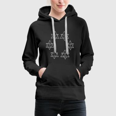 Tribal Dragon 6 triangle triangles Sacred geometry Psychedelic - Women's Premium Hoodie