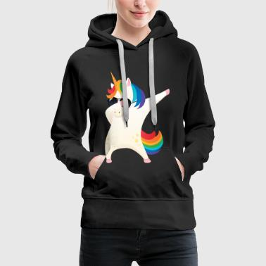 Dabbing Unicorn With Sunglasses - Dab Dance Gift - Frauen Premium Hoodie