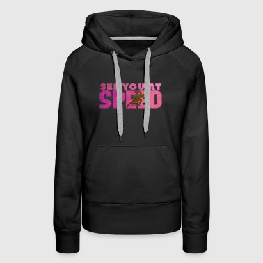 Speed fast pink jogging gift idea - Women's Premium Hoodie