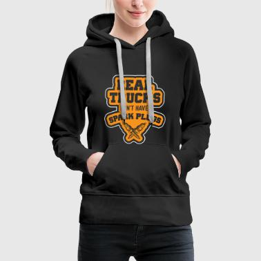 Truck driver driving profession road freight trucker idea - Women's Premium Hoodie