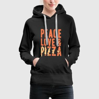 Peace Love and Pizza Gift Christmas - Women's Premium Hoodie