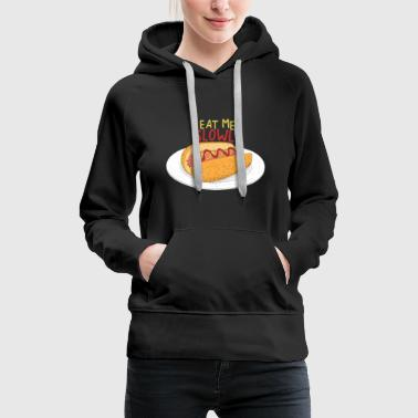 Hot dog - Sweat-shirt à capuche Premium pour femmes