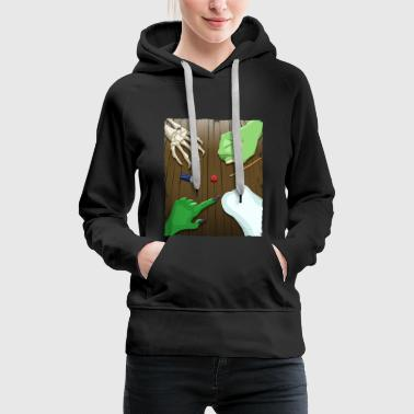 Halloween Party Table Tabletop Pen and Paper DnD - Women's Premium Hoodie