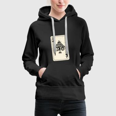 Ace Of Spades Death Twitches My Ear Ace of Spades Playing Card - Women's Premium Hoodie