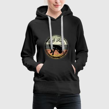Pole Vault High Jump Logo Vintage Retro Art - Women's Premium Hoodie