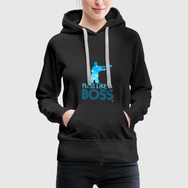 Jumpstyle Floss like a boss gift - Women's Premium Hoodie