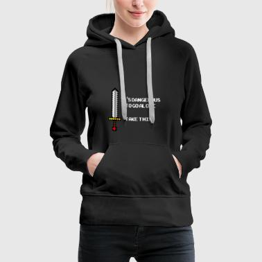 Happiness It's dangerous to go alone, - Women's Premium Hoodie