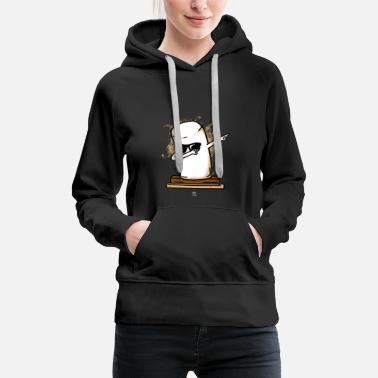 Marshmallow Dabbing Marshmallow Dab Gift - Sweat-shirt à capuche Premium pour femmes
