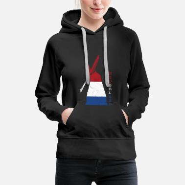 Wind Turbine Netherlands Holland windmill national colors - Women's Premium Hoodie