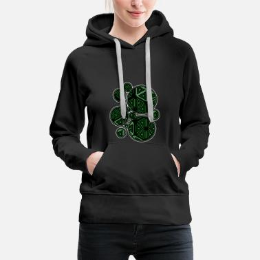 Hippie Festival DMT T-Shirt - Psy - Geometry - Abstract - Design - Women's Premium Hoodie