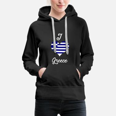 Region I love greece - Frauen Premium Hoodie