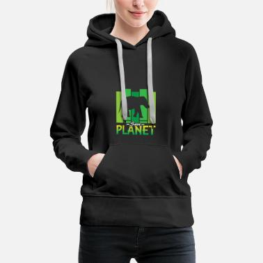 Save The Planet Save Planet | Elephant Animal | Cool Safari Mammal - Women's Premium Hoodie