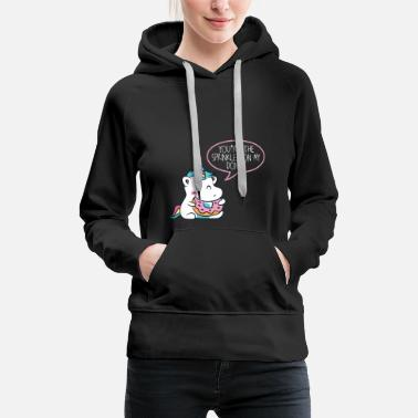 Chubby Donut Colorful Unicorn Magical Gift Horn Child - Women's Premium Hoodie