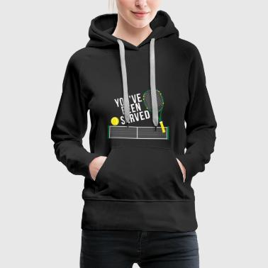 Tennis tennis player gift tennis racket - Women's Premium Hoodie
