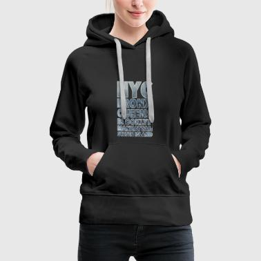 NYC Boroughs White - Frauen Premium Hoodie