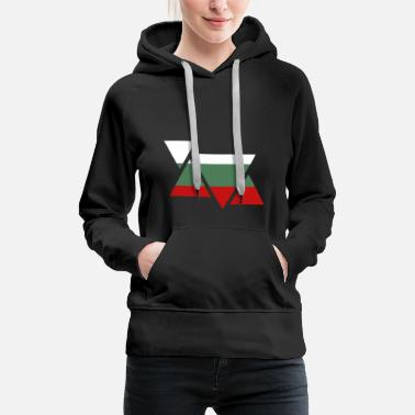 Sofia Bulgaria | Flag | Triangles | gift idea - Women's Premium Hoodie