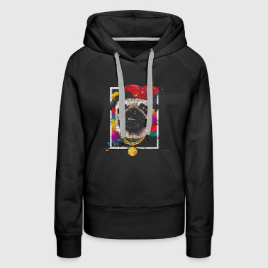 Streetdance breakdance hip hop pug dog - Women's Premium Hoodie